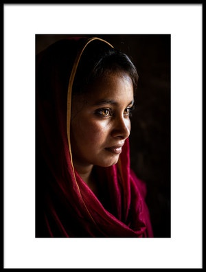 Buy this art print titled Beautiful Peasant Woman by the artist Richard Huang