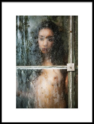 Art print titled Behind Dirty Window Pane by the artist Jan Slotboom