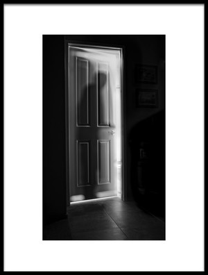 Art print titled Behind the Door by the artist Steve Peterson