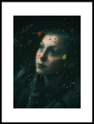 Art print titled Behind the Web by the artist Alicja O'Sullivan