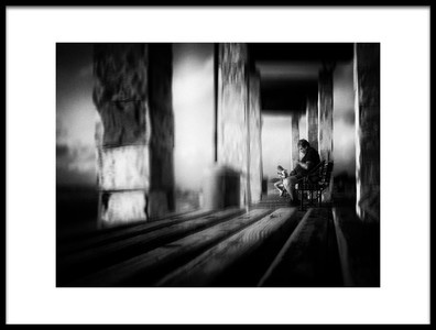 Art print titled Benches by the artist Elhanan S.R.
