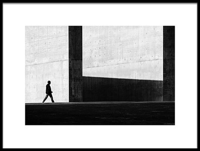 Art print titled Between Light and Shadow by the artist K|K - Carlos Costa