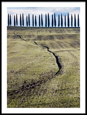 Art print titled Beyond the Ditch by the artist Robert Pearce