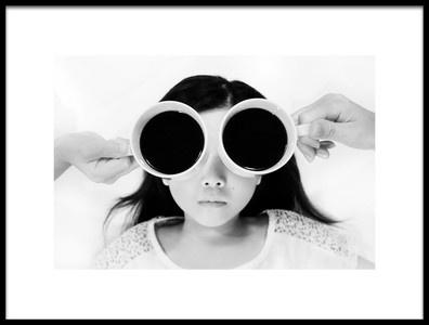 Art print titled Big Glasses by the artist Takashi Suzuki