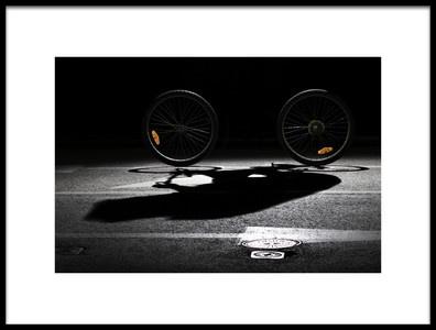 Art print titled Bikerless by the artist Humusak