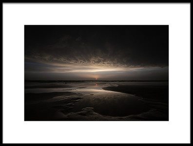 Art print titled Biscarrosse Sunset by the artist Arnd Gottschalk