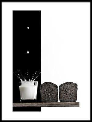 Art print titled Black and White by the artist Vladimir Poleschuk