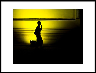 Art print titled Black and Yellow by the artist Marius NJ