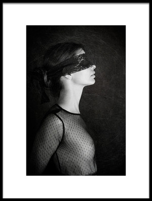Art print titled Black Lace by the artist Igor Genovesi