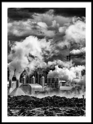 Art print titled Black Smoke by the artist Marc Pelissier