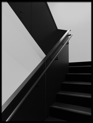 Buy this art print titled Black Stairs by the artist Olavo Azevedo