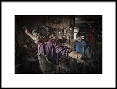 Buy this art print titled Blacksmith by the artist Tunc Tuncel