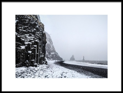 Art print titled Blizzard In the Black Beach by the artist Francisco Mendoza Ruiz
