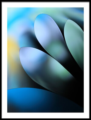 Art print titled Blue by the artist Gry Heubach
