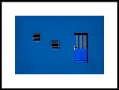 Art print titled Blue by the artist Orkidea W.