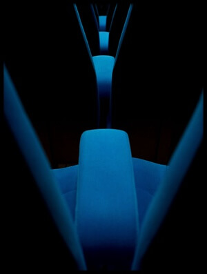 Art print titled Blue Armchairs by the artist Thierry Lagandré (Transgressed Light)