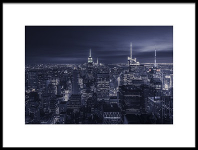 Buy this art print titled Blue City by the artist Jorge Ruiz Dueso