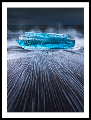 Art print titled Blue Diamond by the artist Jingshu Zhu