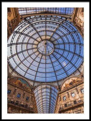 Art print titled Blue Dome by the artist David Bouscarle