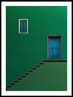 Buy this art print titled Blue Door by the artist Alfonso Novillo