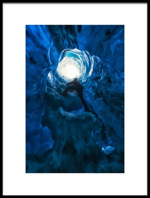 Art print titled Blue Hole by the artist David Martín Castán