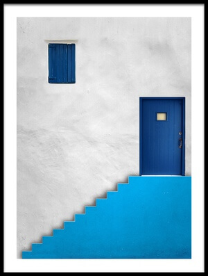 Art print titled Blue House by the artist Alfonso Novillo