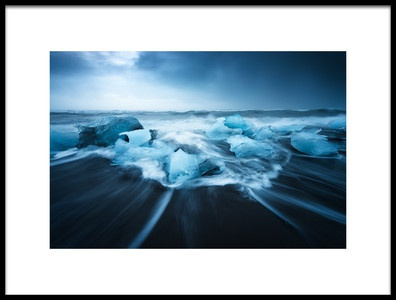 Art print titled Blue Ice by the artist David Martín Castán