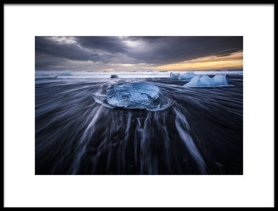 Art print titled Blue Ices II by the artist Jorge Ruiz Dueso
