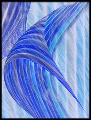 Art print titled Blue Motion by the artist Marc Huybrighs