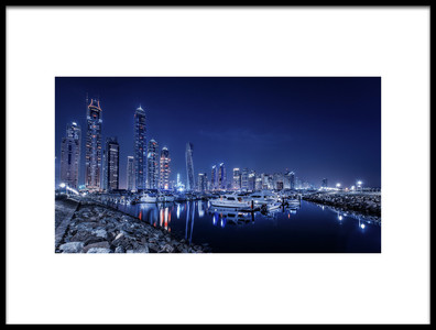 Art print titled Blue Night by the artist Mohamed Raof