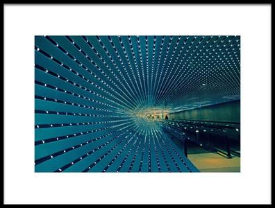 Art print titled Blue Tunnel by the artist Oscar V Ajanel