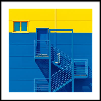Art print titled Blue Yellow by the artist Igor Bakotic
