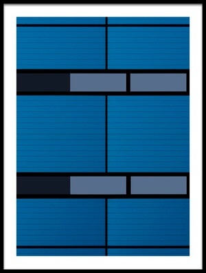 Art print titled Blues and Black by the artist jan niezen