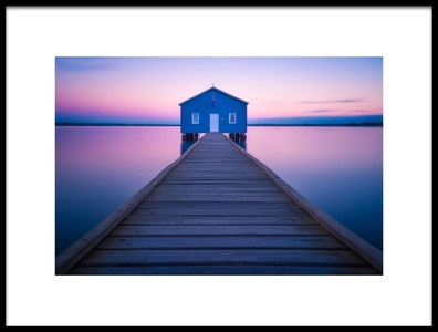 Buy this art print titled Boathouse by the artist Richard Vandewalle