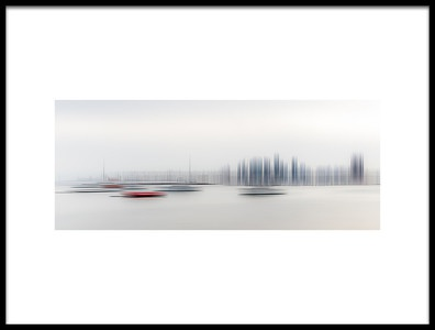 Art print titled Boats In the Harbour by the artist Richard Adams