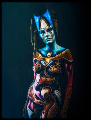 Buy this art print titled Bodypainting by the artist Traven Milovich
