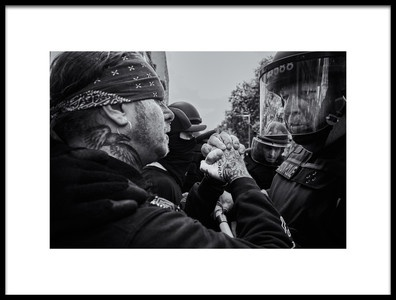 Art print titled Boston Rally Stand Off by the artist Miki Joven