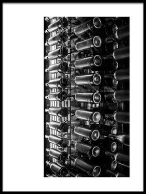 Art print titled Bottles of Wine by the artist Johanes Januar