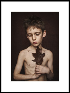 Buy this art print titled Boy With a Leaf by the artist Monika Strzelecka