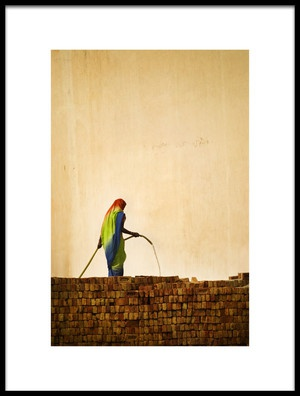 Art print titled Brick Maker by the artist Jeffery Habenicht