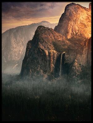 Art print titled Bridalveil Fall, Yosemite by the artist David George
