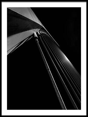 Art print titled Bridge Lines by the artist Gerard Jonkman