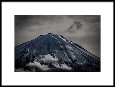 Art print titled Bright Clouds and Dark Clouds by the artist Teruo Araya