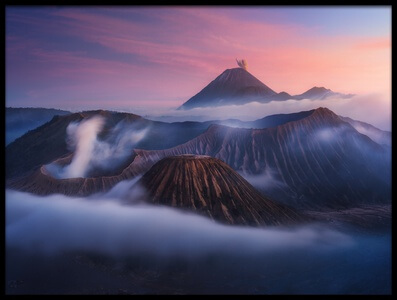 Buy this art print titled Bromo Vs Semeru by the artist Juan Pablo de Miguel