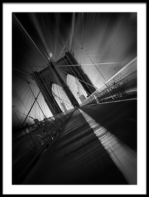 Art print titled Brooklyn Bridge by the artist Sebastien DEL GROSSO