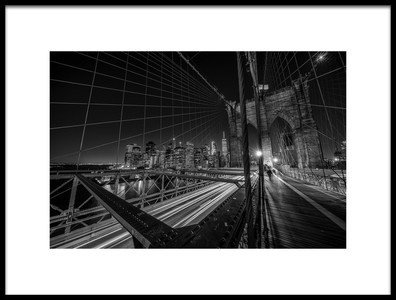 Buy this art print titled Brooklyn Bridge Lights by the artist Stefan Schilbe