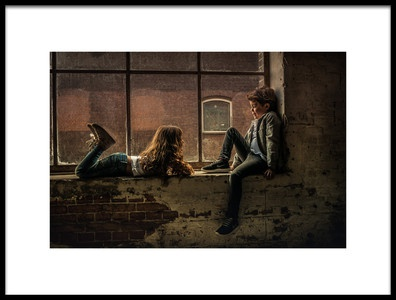 Art print titled Brother and Sister by the artist gunther gehlich