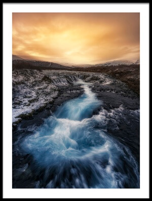 Buy this art print titled Bruarfoss by the artist Jorge Ruiz Dueso