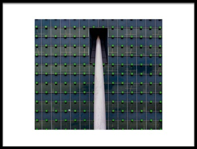 Art print titled Building by the artist Jef Flour