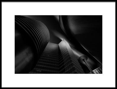 Art print titled Building by the artist Matthias Hefner
